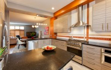 Bold kitchen design optimizes space in Twin Cities remodel.