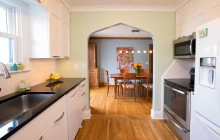 Functional space design in Nokomis Minneapolis kitchen remodel.